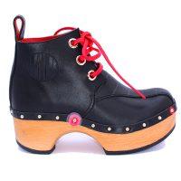 Handmade Clogs Boot Black 2