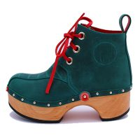 Handmade Clogs Boot Turquoise 2