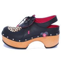 Handmade Clogs Leopard Print Slingback Shoe1