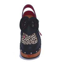 Handmade Clogs Leopardprint Slingback Shoe4