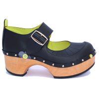 Handmade Clogs Mary Jane Black Shoe2