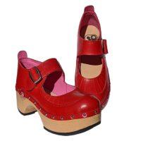 Handmade-Clog-Flower-OneBar-red-1