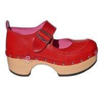 Handmade-Clog-Flower-OneBar-red-2