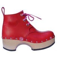 Handmade-Clog-SeedPod-Boot-Red-2