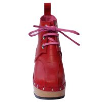 Handmade-Clog-SeedPod-Boot-Red-3